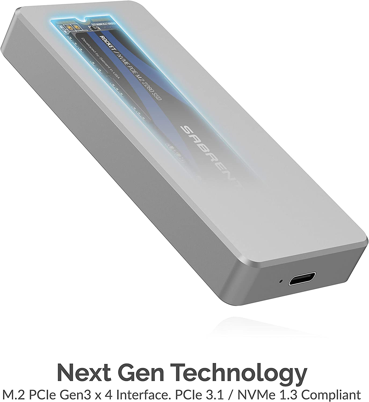 Sabrent Rocket Pro 256GB NVMe USB 3.1 SSD Externo de Aluminio ...