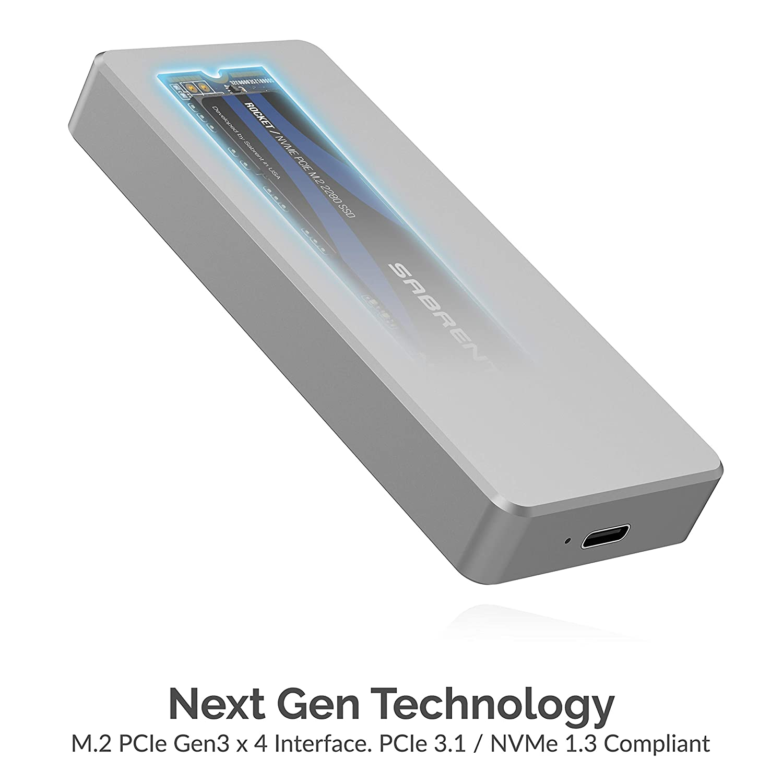 SB-2TB-NVME Sabrent Rocket Pro 2TB NVMe USB 3.1 External Aluminum SSD