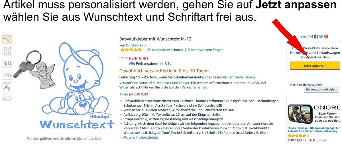 Babyaufkleber Mit Wunschtext M 13 Inkl Schlüsselanhänger Th Design Baby