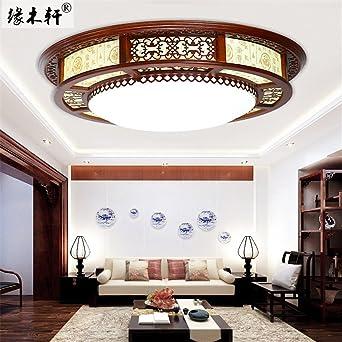 BRIGHTLLT Moderne Und Minimalistische Wohnzimmer Deckenlampe LED Massivholz Pergament Licht Kreisen Restaurant Schlafzimmer Neue Chinesische 3
