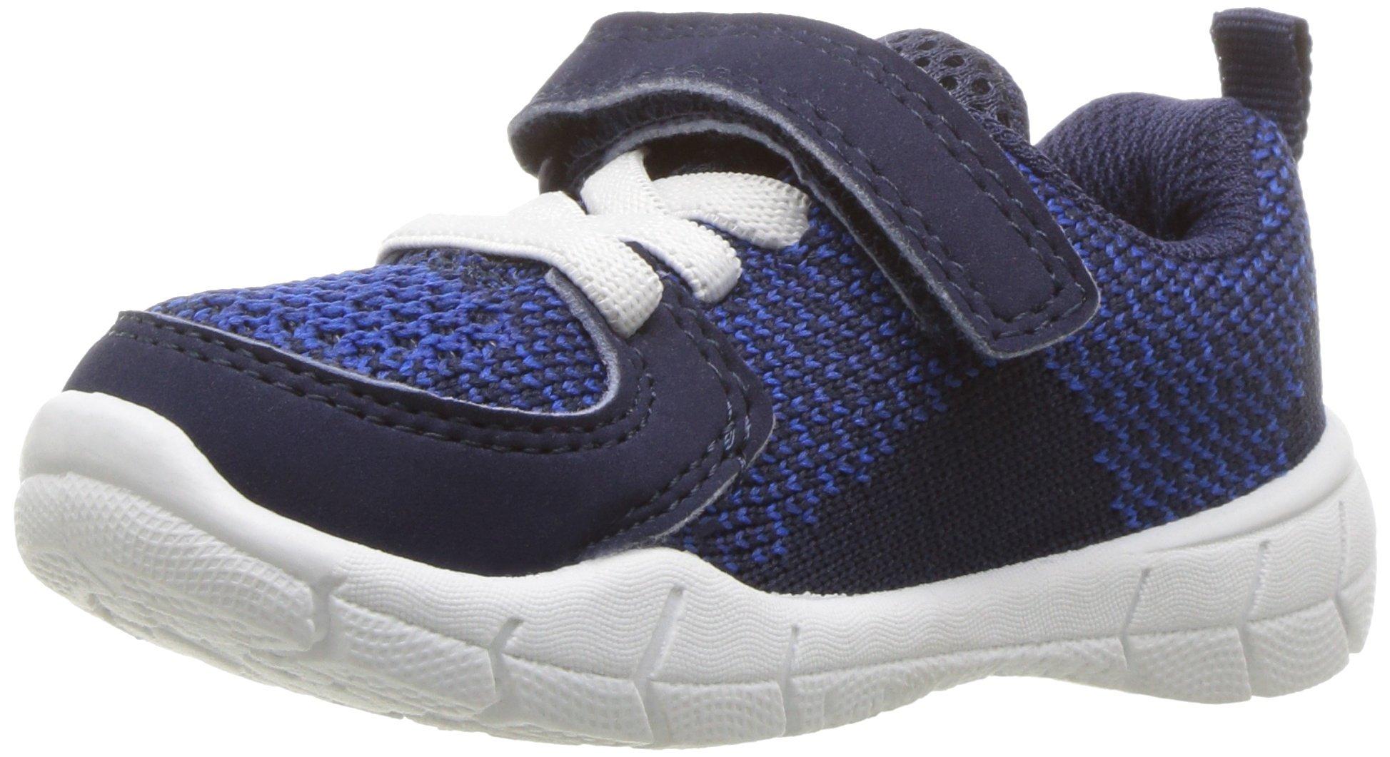 Carter's Boys' Avion-B Blue Athletic Sneaker, Navy, 8 M US Toddler