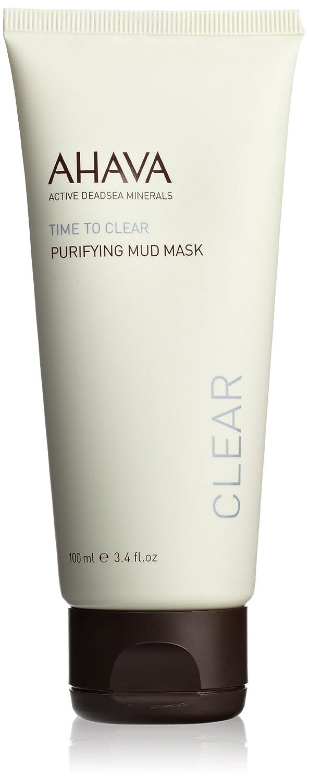 AHAVA Purifying Mud Mask 100 ml Dead Sea Natural Face Exfoliator for Men and Women Great for Sensitive Skin Dead Sea Laboratories Ltd 81515065
