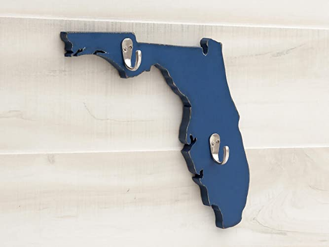 Florida State Map Shape Key Hook Home Organizer Additional Us States A K Available 20