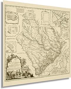Historix Vintage 1773 Map of South Carolina - 24x24 Inch Vintage Map Wall Art - American Revolution South Carolina Map Poster - Old South Carolina Map Art - Vintage South Carolina Map Print (2 sizes)