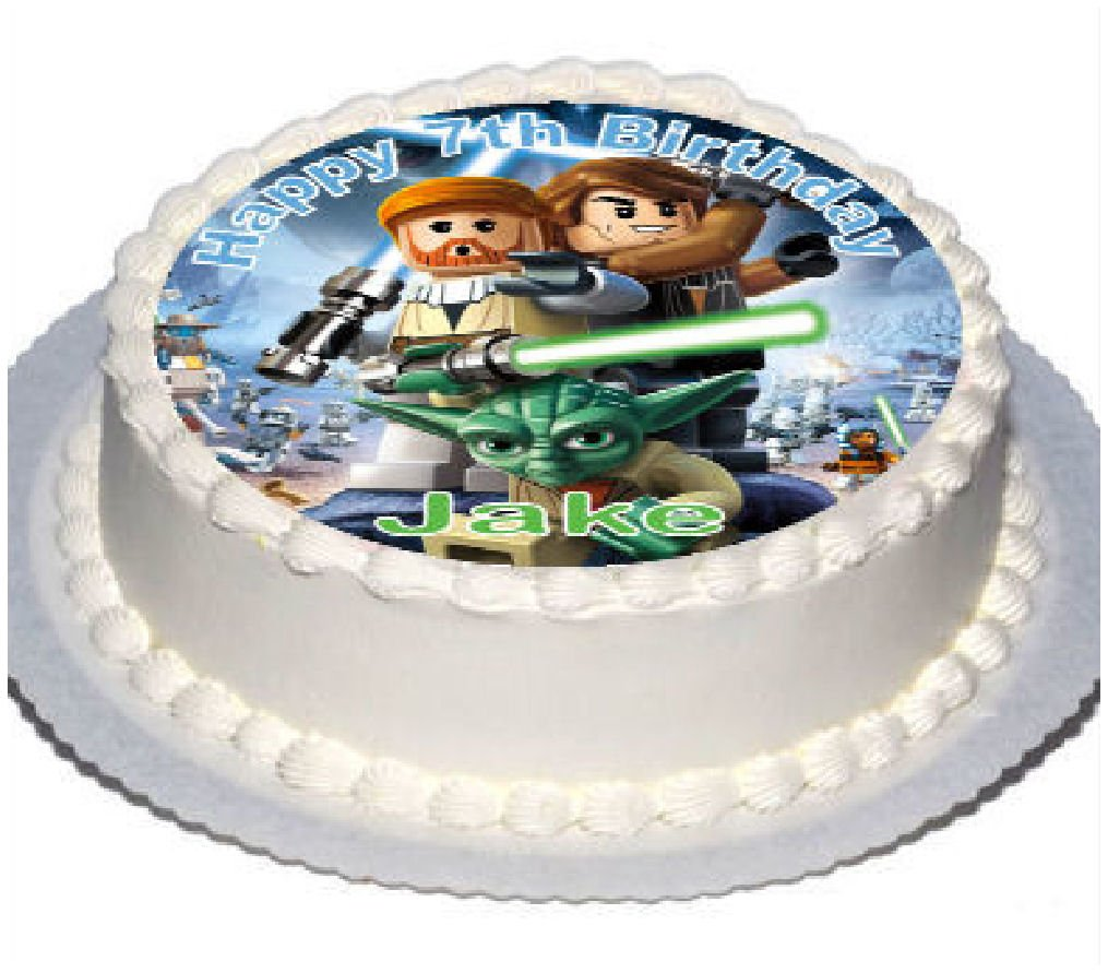Personalised Starwars Cake Toppers with Any Name on Decor Real