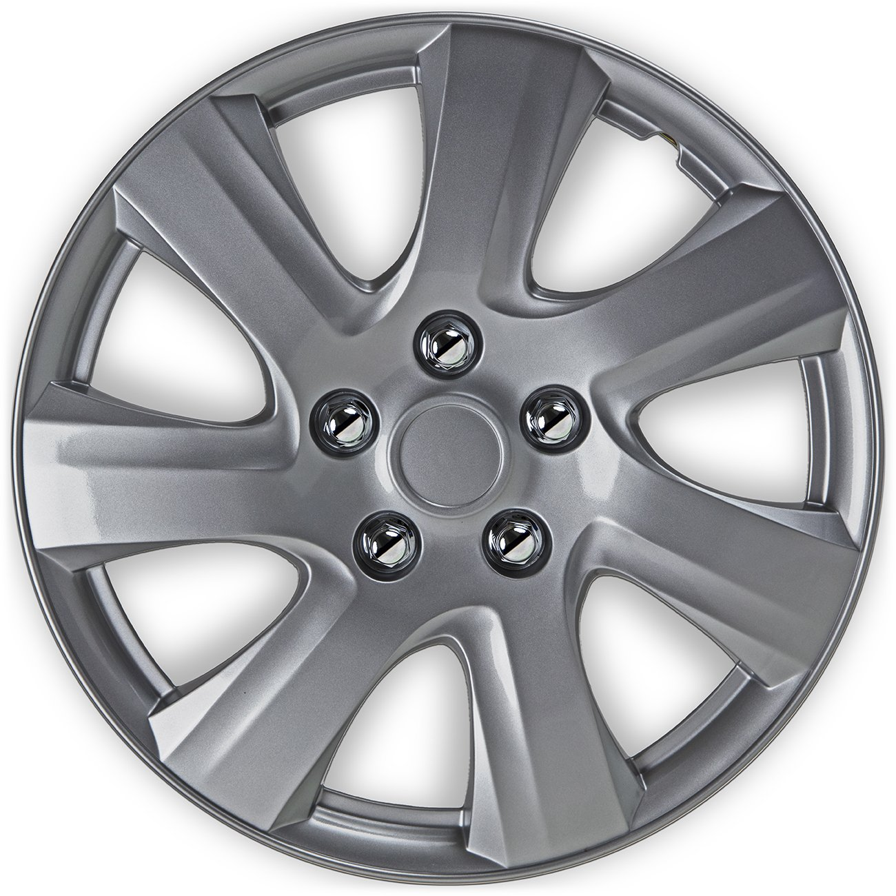 OxGord Hubcaps for Toyota Camry (Pack of 4) Wheel Covers - 16 Inch Silver Replacement by OxGord (Image #3)