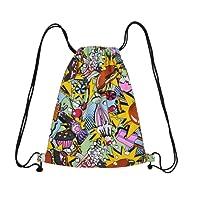 Diossad Sac à Dos Cordon Imperméable pour élégant Piscine Plage Sport Gym Sac de Randonnée Voyage Drawstring bag