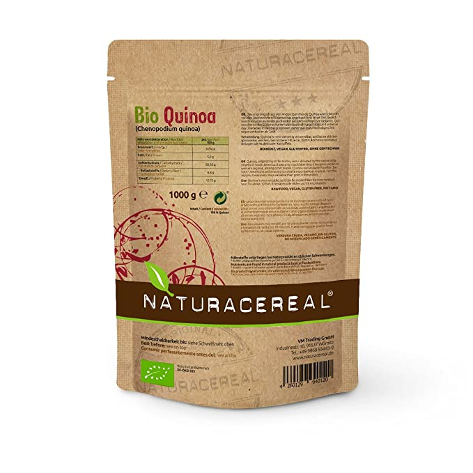 NATURACEREAL bio quinoa Color Blanco, 1er Pack (1 x 1 kg)