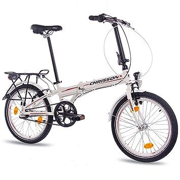 CHRISSON 20 pulgadas bicicleta plegable para bicicleta plegable aluminio bicicleta foldrider 2.0 con 3 marchas