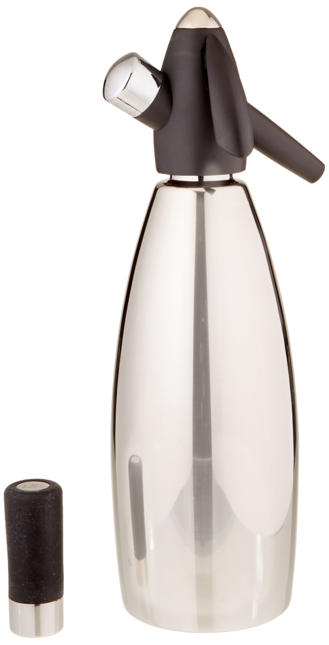 iSi Stainless Steel 1 quart Soda Siphon Bottle, Silver by iSi North America (Image #1)