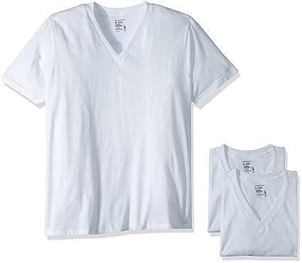 57f551ea Jockey Men's T-Shirts Slim Fit Cotton V-Neck - 3 Pack | Amazon.com