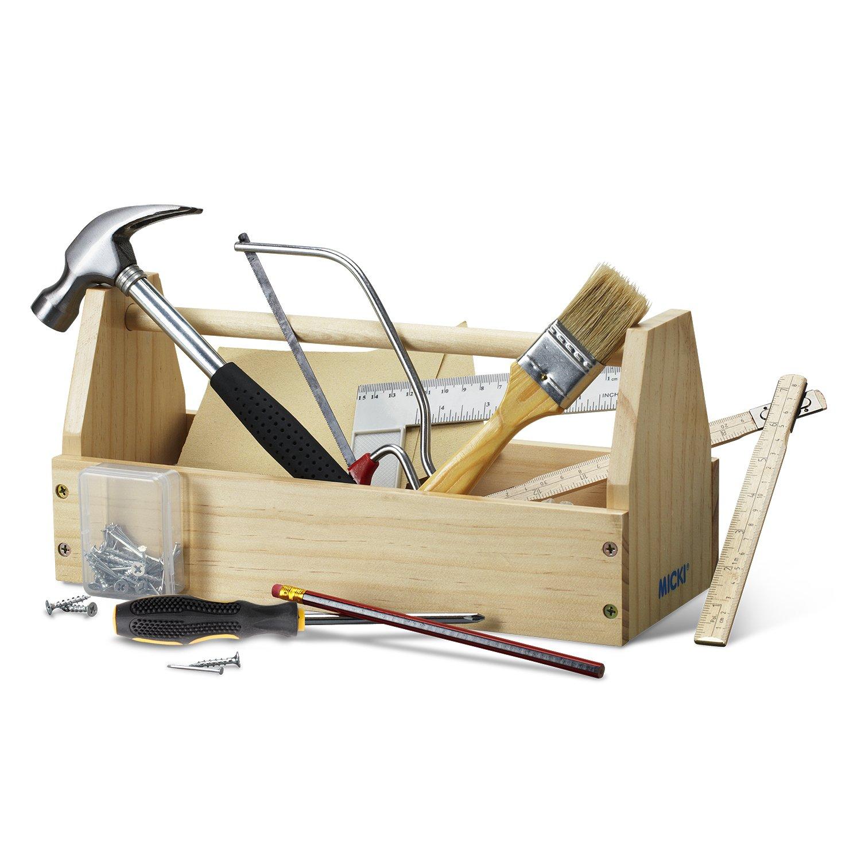 Micki Holz-Werkzeugkasten - Holz Werkzeugkiste Kinder