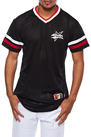 25f254924 GENx Mens Hip Hop Allstar Basketball Mesh Short Sleeves T-Shirt Top T720 (L