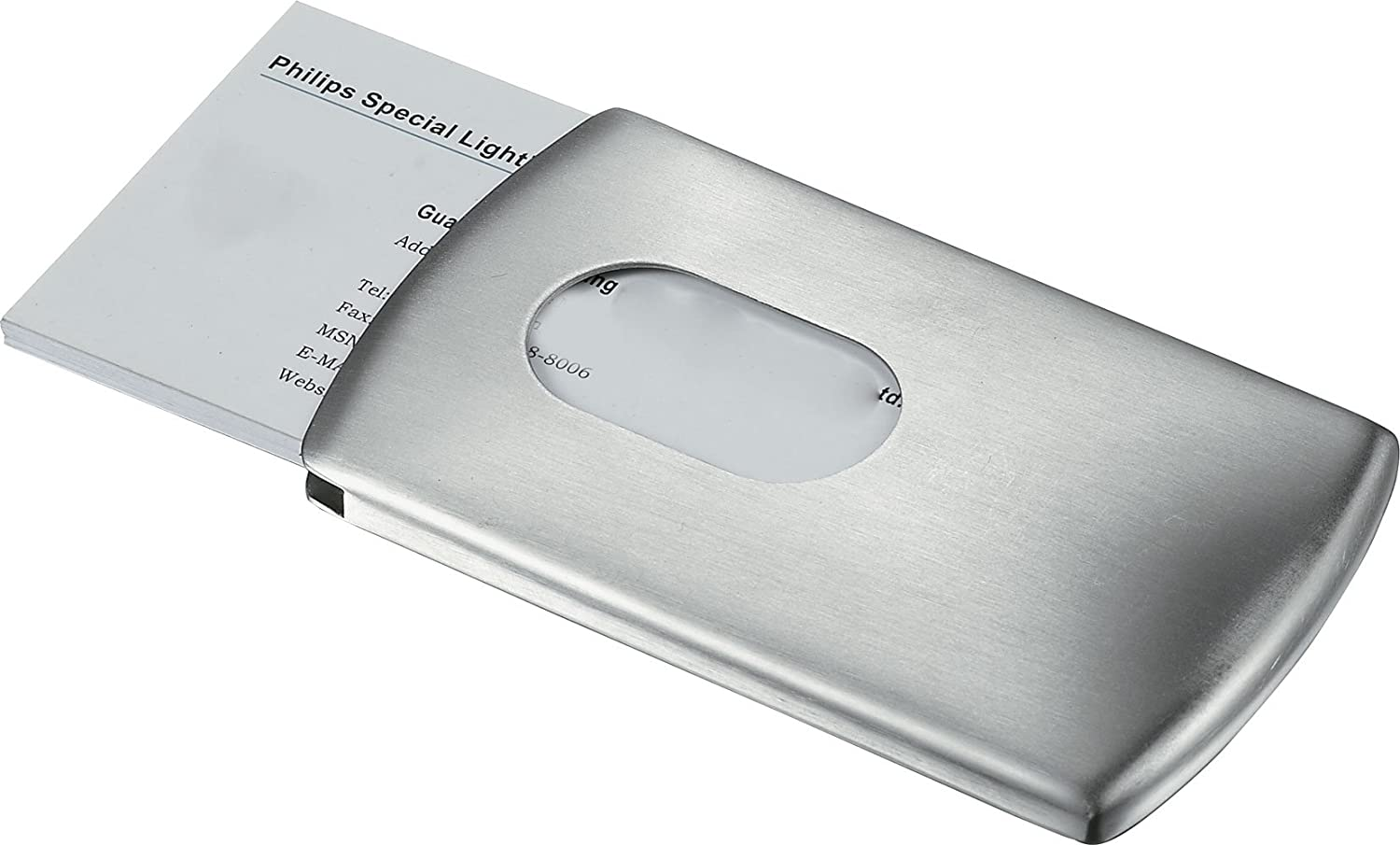 Amazon Visol Products Push Satin Business Card Holder Home