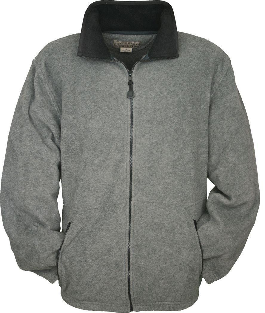 Colorado Timberline Men's Telluride Fleece Jacket-XL (Charcoal)