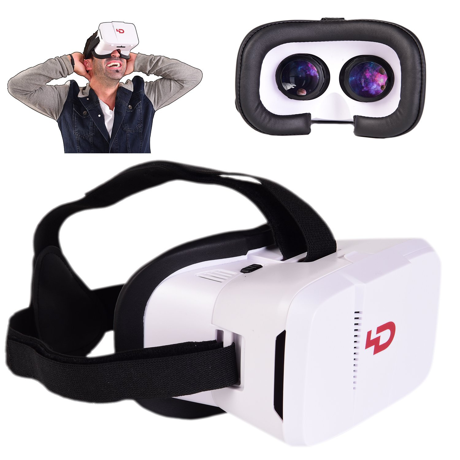 Virtual Reality Headset by 4Dimensions - 360 Degrees Gaming Experience - Supports 3D Movies and Games - Compatible with iPhone Android LG and Windows Smartphones