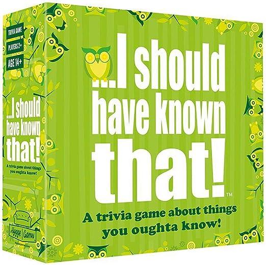 EUS Juegos De Sociedad Adultos Que Debería Haber Sabido Que Juego De Preguntas Y Juegos De Cartas Adolescente Cubierta Estrategia Interactiva Juego De Mesa para Familias, Grupos: Amazon.es: Hogar