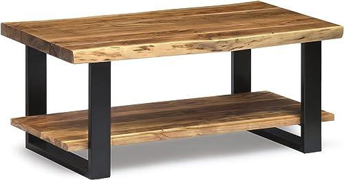 Alaterre Furniture Alpine Natural Wood Coffee Table Live Edge