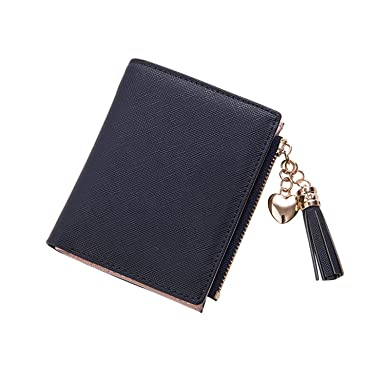 2f8df341c25f Stylish Female Tassel Wallet Small Cute Wallet Women Short Leather ...