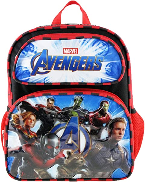 "Boys Avengers 12/"" Backpack Hulk Iron Man Black Widow"