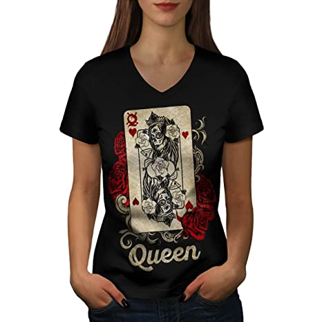 Gamble Card Queen of Hearts Poker Game, Sugar Skull Life Death Mortal
