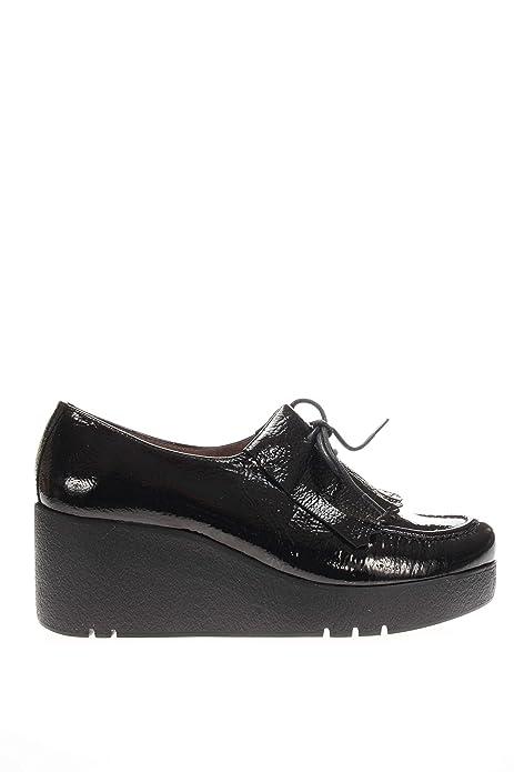 Wonders Mujer Mocasín fondo Zeppa H 3202 Mocasines Flecos fondo Zeppa negro Size: 35: Amazon.es: Zapatos y complementos