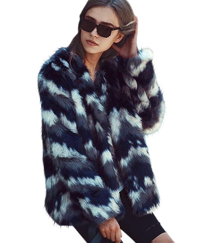 65aa9a7ec LLQ Abrigo para Mujer Fur Coat Invierno Piel Abrigo Pelo Ropa Encapuchado  Chaqueta Piel Long Section Felpa Ropa Caliente Abrigo Pelo Mangas Largas  Ropa ...