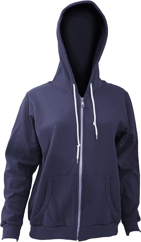 Women/'s Classic Full Zip Up Hoodie Zipper Hooded Cotton Jacket Sweatshirt