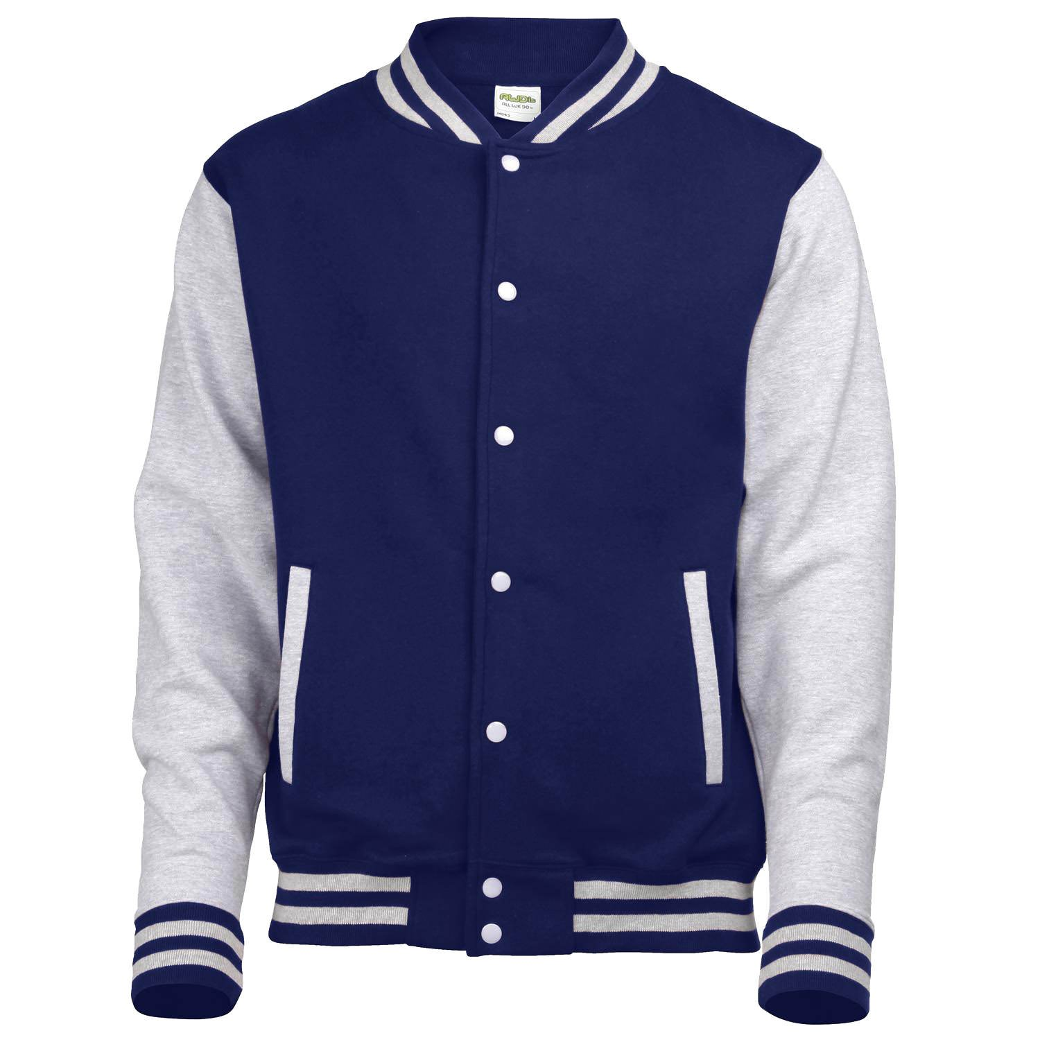 Awdis Varsity jacket - 16 Colours - Sizes XS to 2XL - Jet Black/Fire Red - L at Amazon Womens Clothing store: