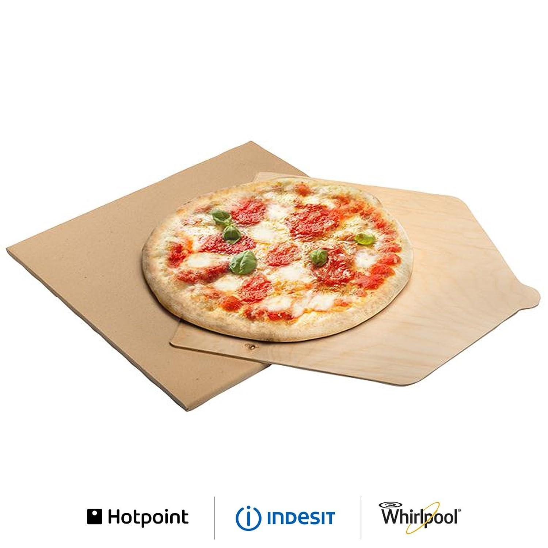 Ariston - Kit Pizza piedra horno refractaria con pala de madera ...