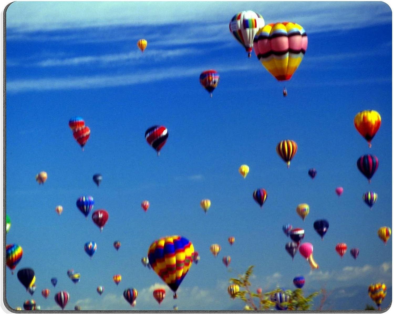 Liili Mouse Pad Natural Rubber Mousepad Hot air Balloons agaisnt Blue Sky International Balloon Festival Albuquerque Photo 2538844