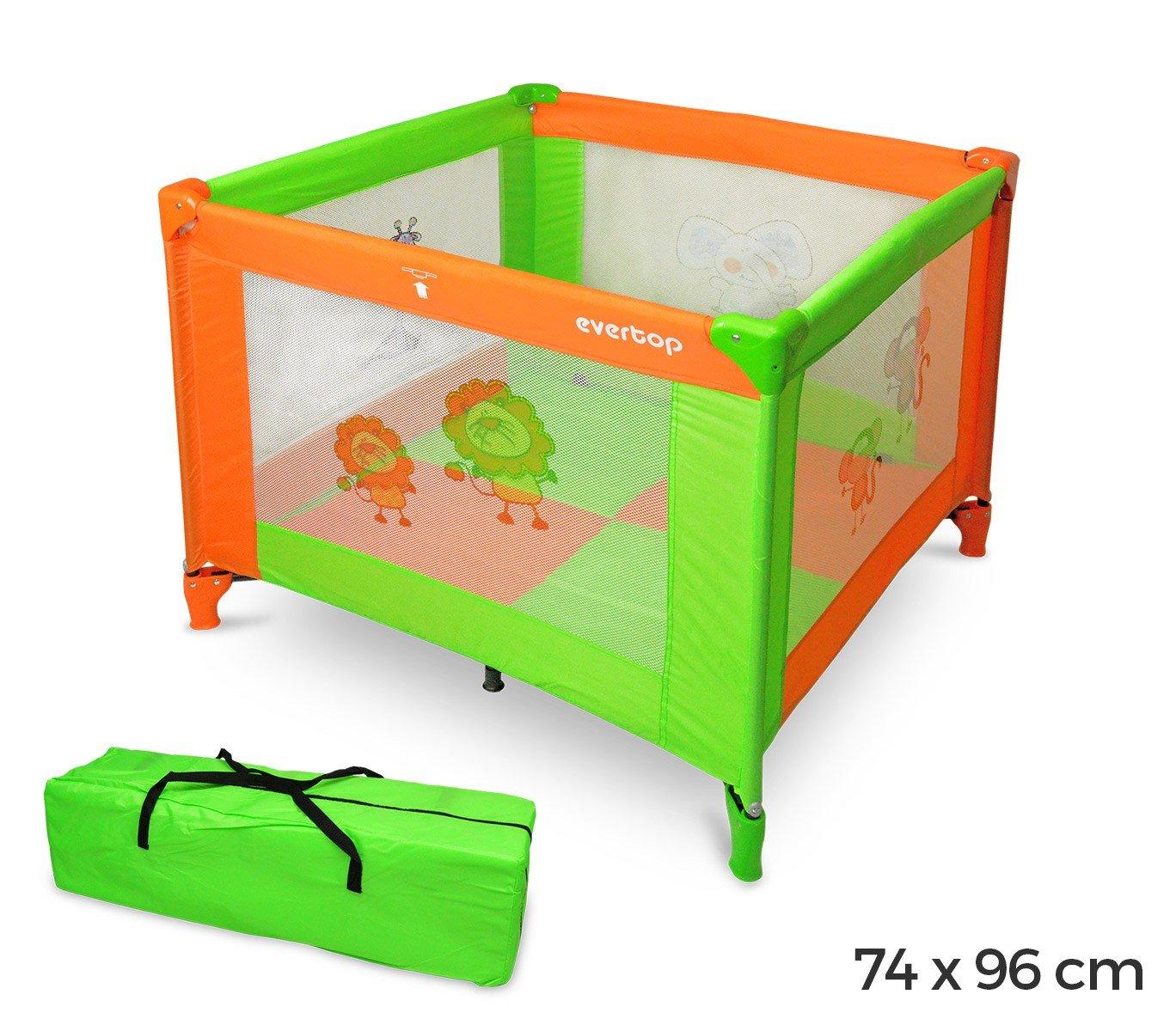 170953 Box giochi per bambini colorato con materassino 74h x 96 x 96 ...