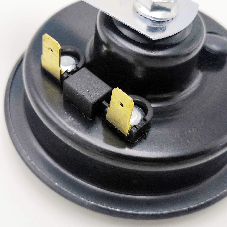 YIYIDA Car Horn Clacson 135DB 12V Tromba daria Super forte tono alto e basso tono doppio corno in metallo con impermeabile universale auto corno per auto elettrica per moto camion camion barca ecc