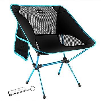 BuFan Silla de Camping Plegable con Bolsa portátil Carga hasta 150 KG, Ideal para acambaca/Senderismo/Viaje/Caza/Pesca: Amazon.es: Deportes y aire libre