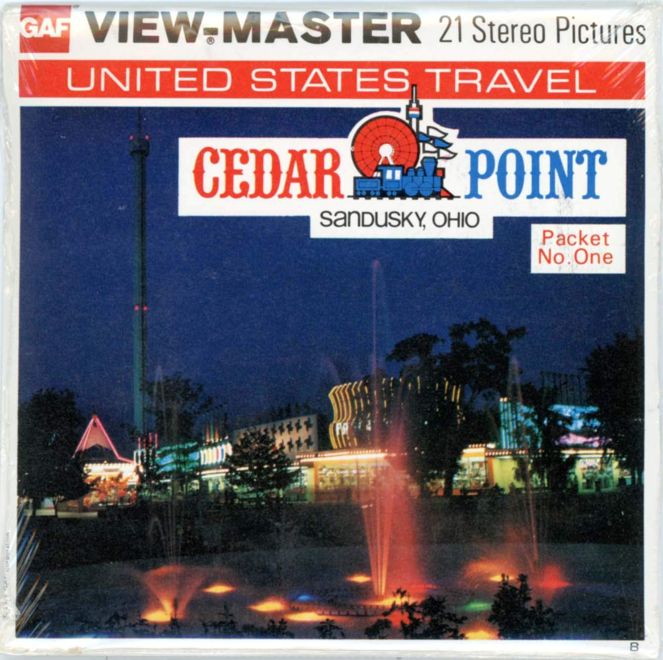 Cedar Point- Sandusky, Ohio - Classic ViewMaster - 3 Reel Set - 21 3D Images - Mint