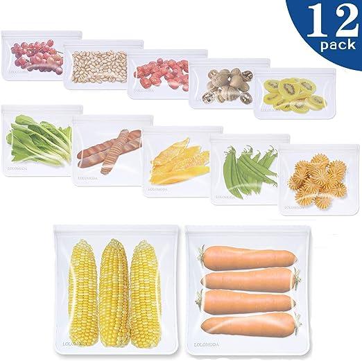 Bolsas Reutilizables para Almacenamiento de Alimentos,12 Piezas ...