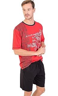 MASSANA Pijama Hombre Verano Algodón P181340-Rojo Intenso