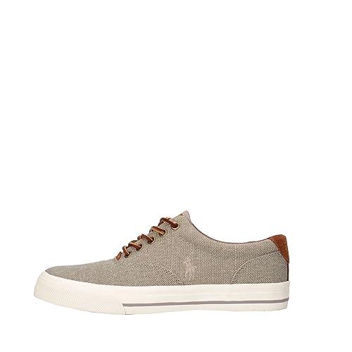Polo Ralph Lauren hombre bajas zapatillas de deporte grises VAUGHN ...