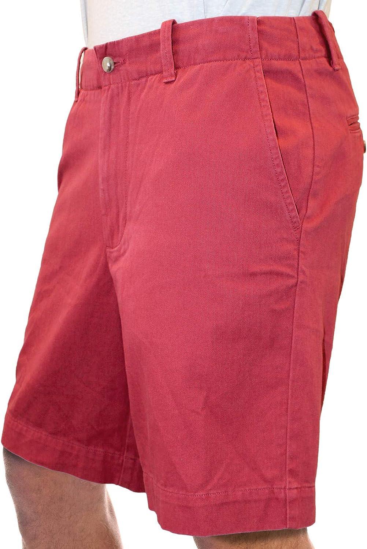 "Margaritaville Men's Marquesa Flat Front Solid 9"" Short 100% Cotton"