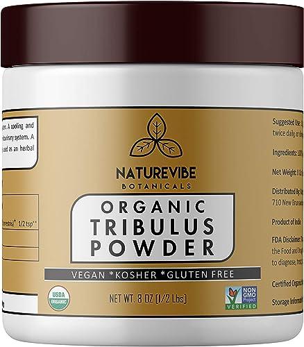 Naturevibe Botanicals USDA Organic Gokshura Powder 8 Ounce