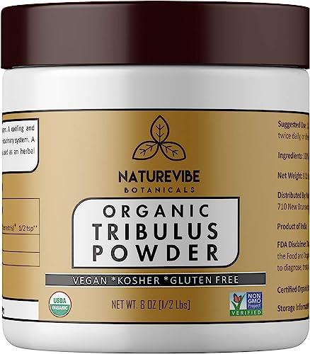 Naturevibe Botanicals USDA Organic Gokshura Powder 8 Ounces – Tribulus Terrestris – 100 Pure Natural Supports Immune System Packaging May Vary
