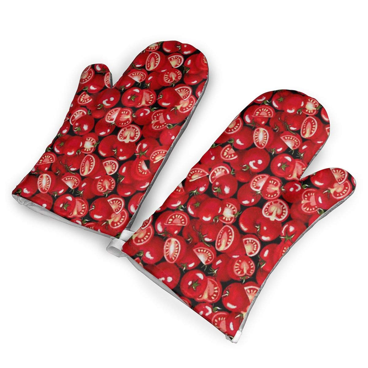 SUNNMOON Cherry Tomato Oven Mitts Heat Resistant Oven Gloves of Non-Slip,Kitchen for Cooking Baking Grilling