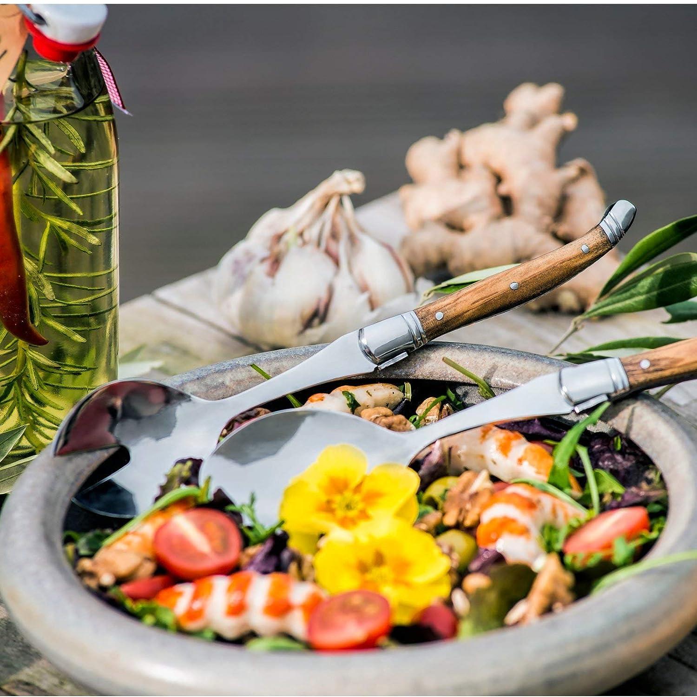 en Bois dolivier Laguiole Style de Vie Couverts /à Salade Luxury Line