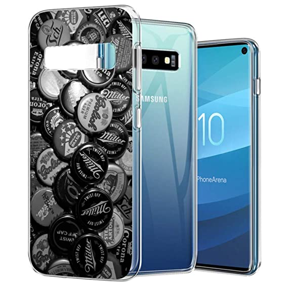 fc11342c69 Amazon.com: Case Compatible with KASOS for Samsung Galaxy S10 Beer Bottel  Caps Soft Case TPU Ultra Slim Side Scratch Resistance Cover: Cell Phones &  ...