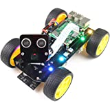 Freenove 4WD Smart Car Kit for Raspberry Pi 4 B 3 B+ B A+, Face Tracking, Line Tracking, Light Tracing, Obstacle…