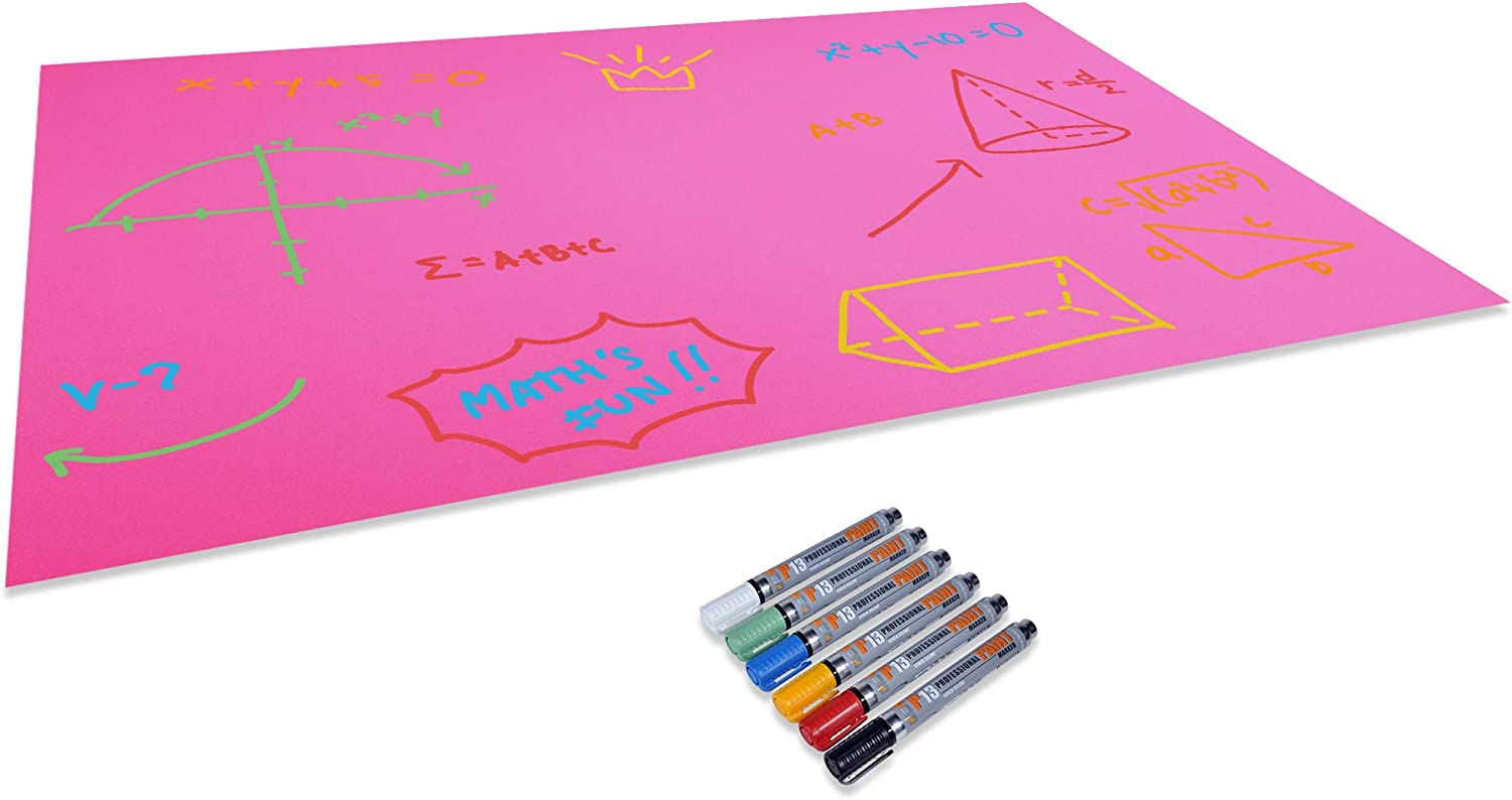 Red Emraw Poster Board Lightweight Craft Backing Boards for Presentations Office Sign Blank Painting Board Smooth Surface Poster Sheets for School Pack of 5