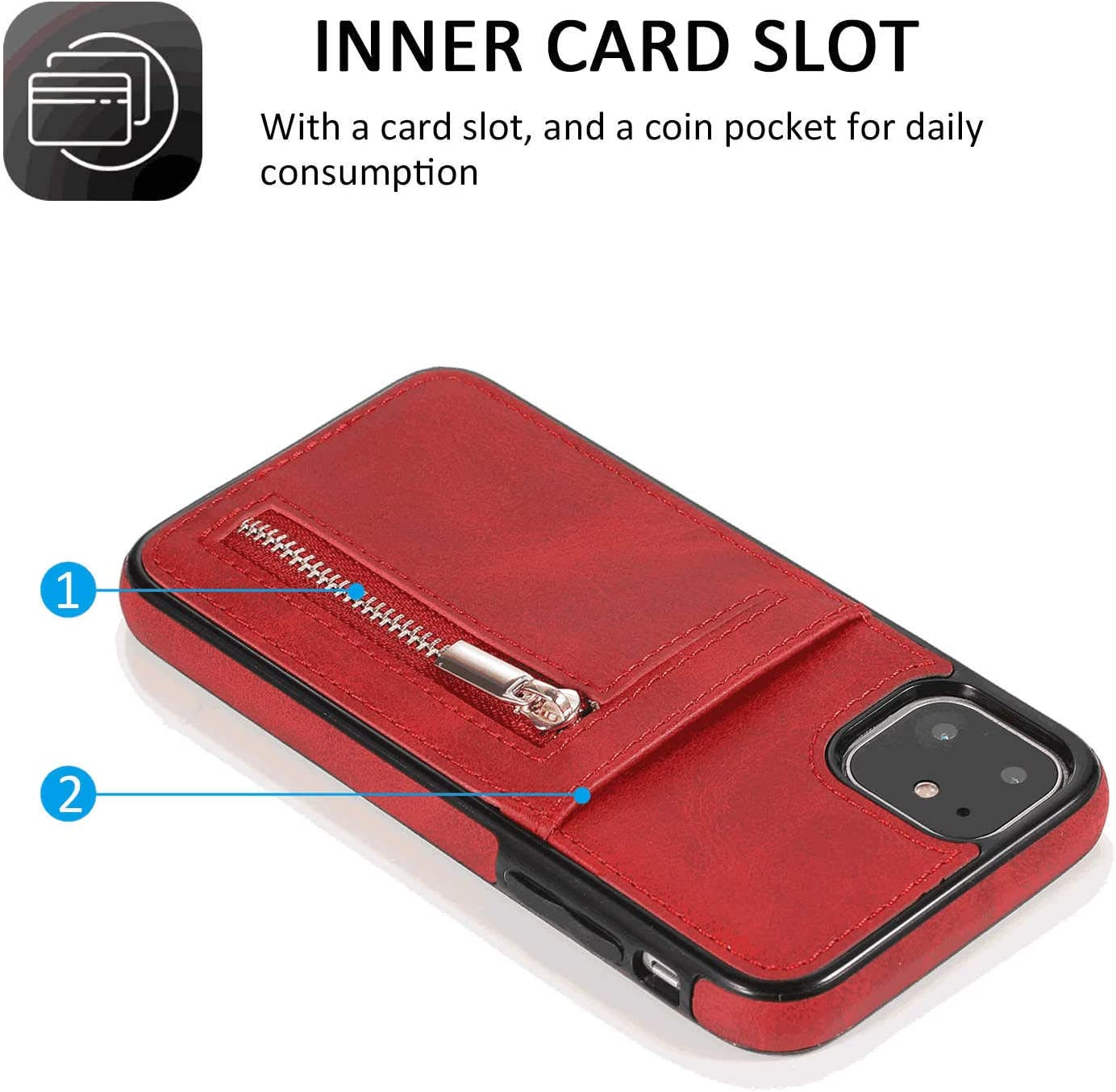 Cover for Leather Extra-Protective Business Kickstand Card Holders Mobile Phone Cover Flip Cover LQinuan Samsung Galaxy S9 Flip Case