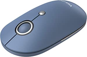 VicTsing Silent Wireless Mouse, Mouse for Laptop 2.4G with USB Nano Receiver, Portable Computer Mice 5 Adjustable DPI for Chromebook, Notebook, PC, Laptop, Computer, MacBook – Steel Blue
