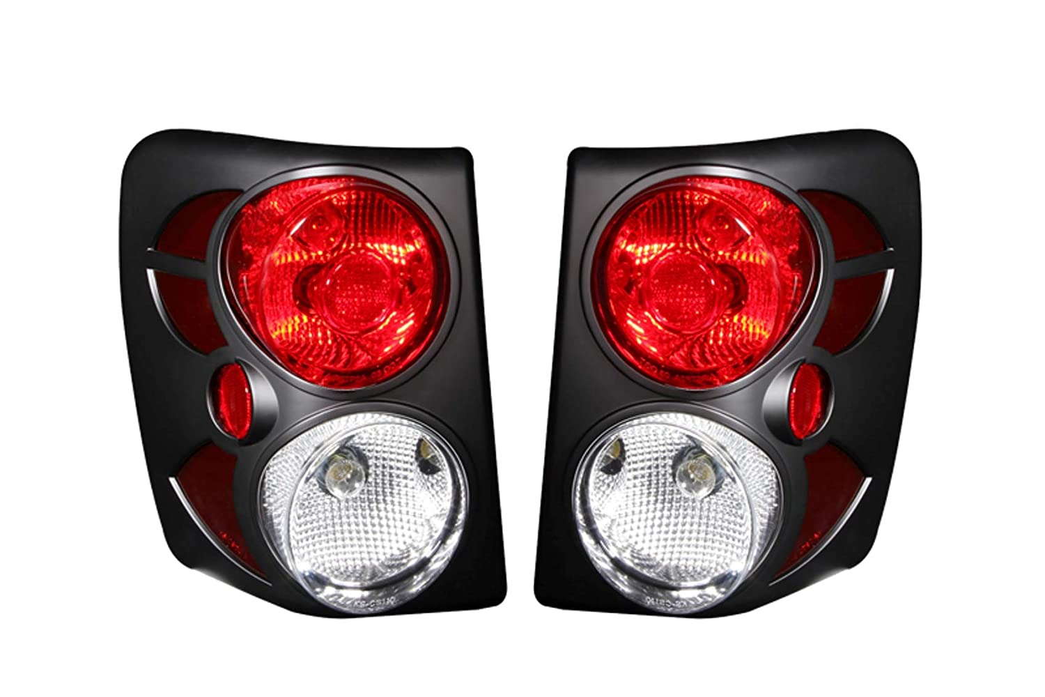 Sold in Pairs Anzo USA 211105 Jeep Grand Cherokee Black Tail Light Assembly