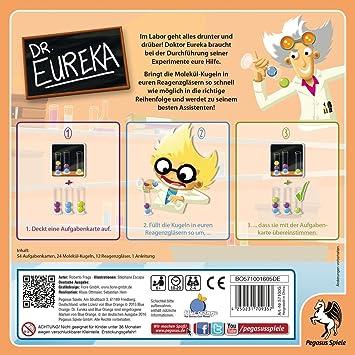 Pegasus Dr. Eureka Niños y Adultos - Juego de Tablero (Niños y Adultos, 20 min, Niño/niña, 6 año(s), 54 Pieza(s), 688 g): Amazon.es: Juguetes y juegos